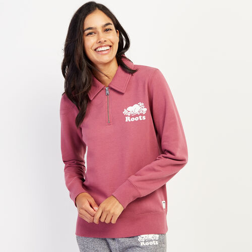 Roots-Women Bestsellers-Original Zip Polo-Hawthorn Rose-A