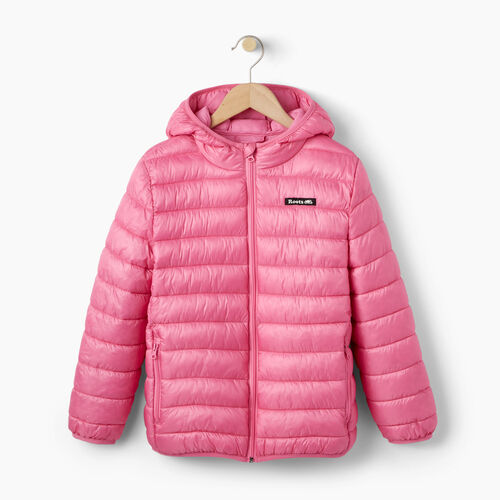 Roots-Winter Sale Kids-Girls Roots Puffer Jacket-Azalea Pink-A