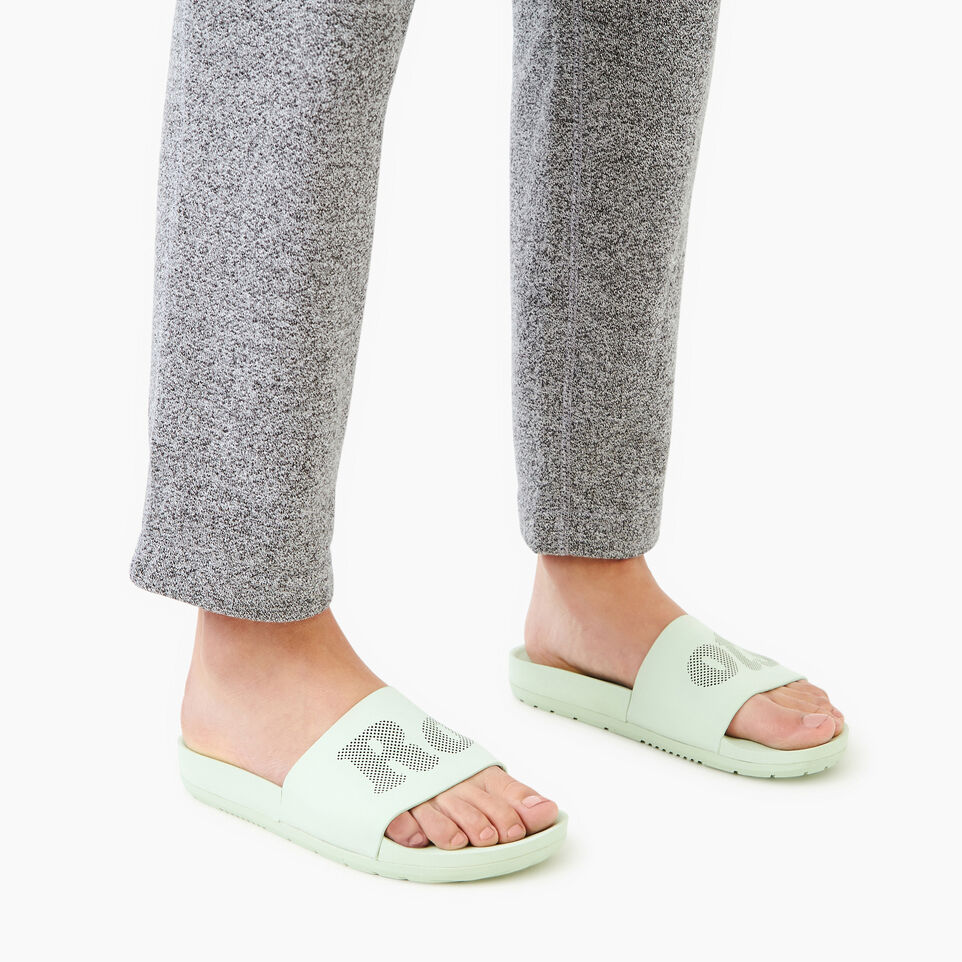 Roots-Footwear Our Favourite New Arrivals-Womens Long Beach Pool Slide-Spray-B