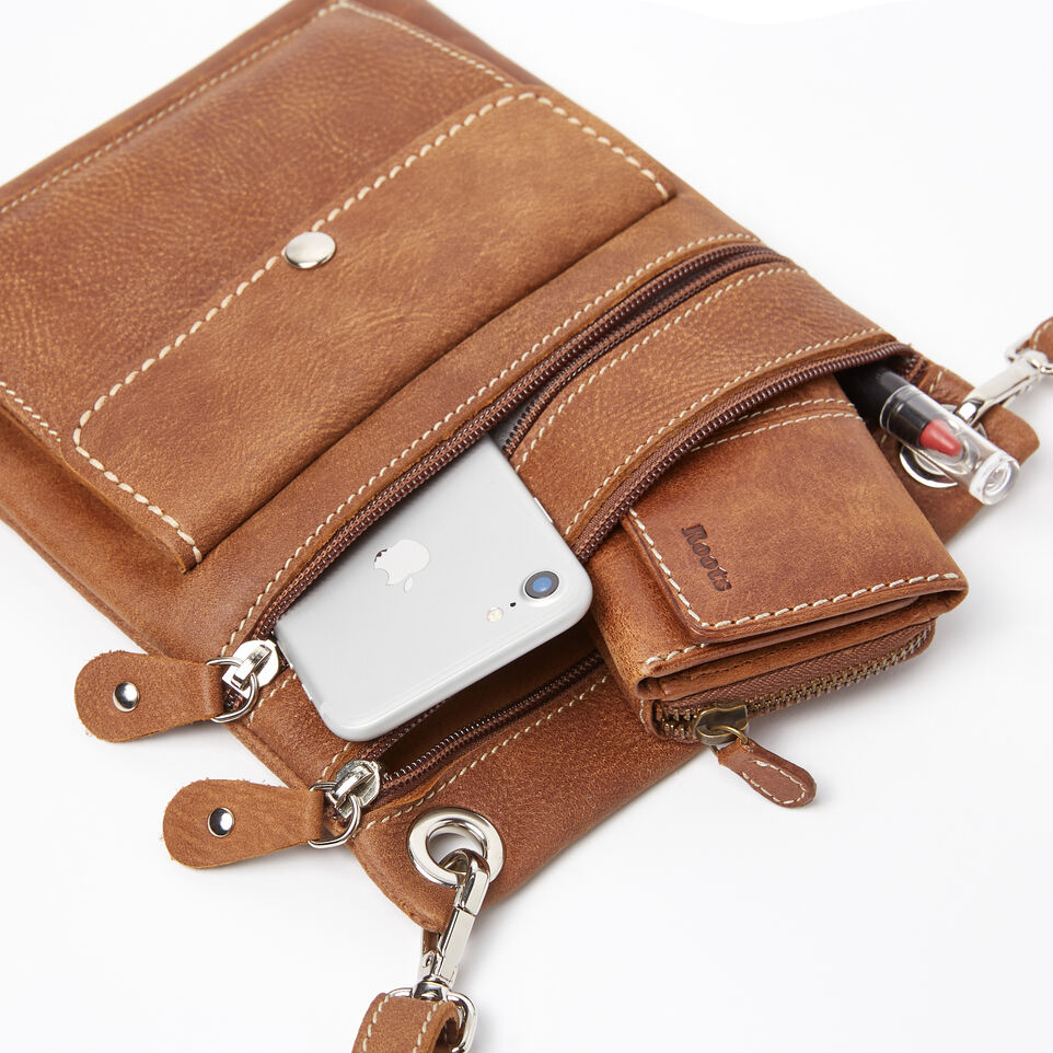 Roots-Leather Handbags-Urban Pouch-Natural-E