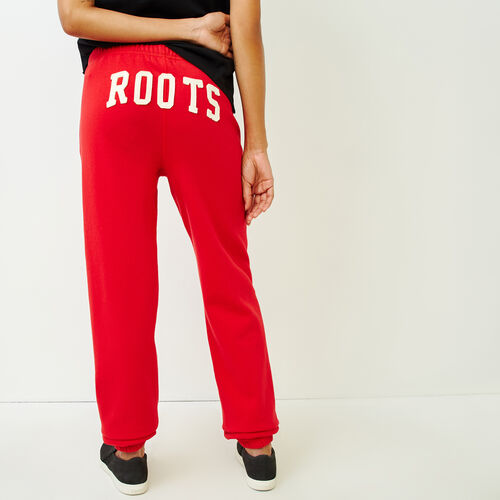Roots-Women Sweatpants-Original Boyfriend Sweatpant-Racing Red-A