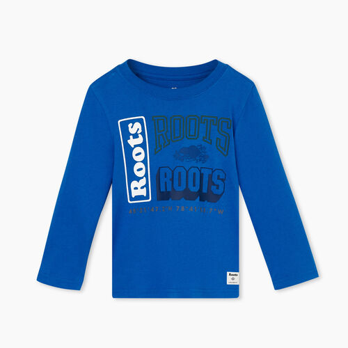 Roots-Kids Toddler Boys-Toddler Stacked T-shirt-Azure Blue-A