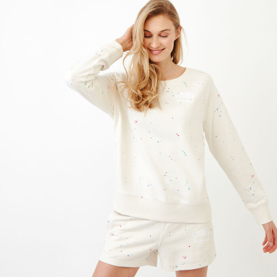 Roots-undefined-Off-shoulder Splatter Sweatshirt-undefined-A