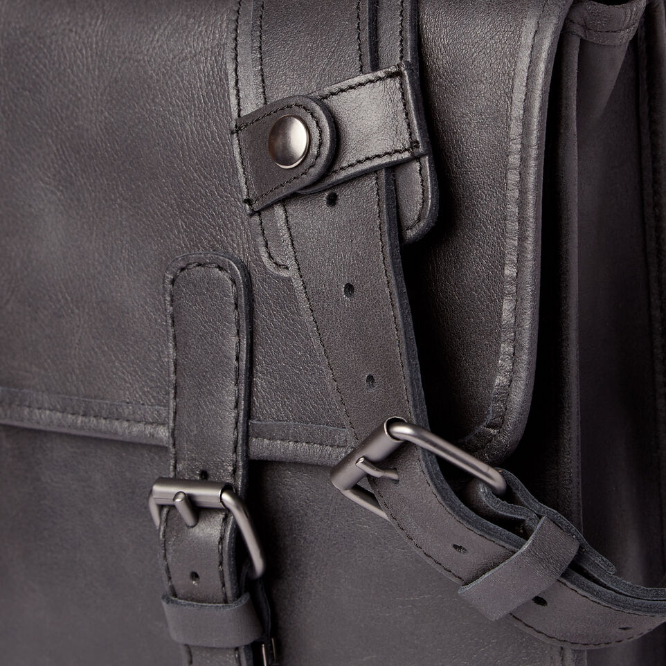Roots-Leather  Handcrafted By Us Our Favourite New Arrivals-The Original Briefcase-Jet Black-E