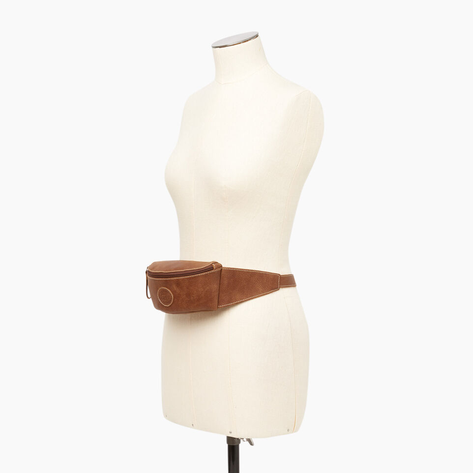 Roots-Leather  Handcrafted By Us Our Favourite New Arrivals-Small Fanny Pack-Natural-B