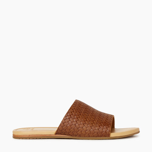 Roots-Footwear Categories-Womens Bridlewood Slide Sandal-Natural-A