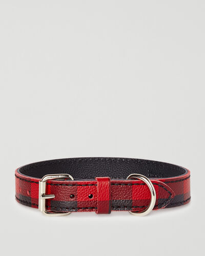 Roots-New For This Month Dog Accessories-Medium Leather Dog Collar-Cabin Red-A
