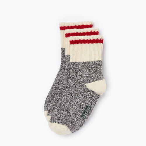 Roots-Kids Our Favourite New Arrivals-Kids Cotton Cabin Ankle Sock 3 Pack-Salt & Pepper-A