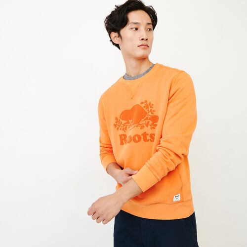 Roots-Men Bestsellers-Sun-oka Cooper Crew-Jaffa Orange-A