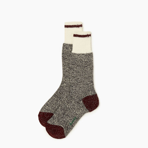 Roots-Women Socks-Womens Roots Cabin Sparkle Sock 2 Pack-Grey Oat Mix-A
