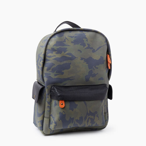 Roots-Women Backpacks-Central Pack Camo-Green Camo-A
