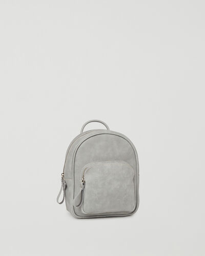 Roots-Leather Backpacks-Mini Chelsea Pack Tribe-Quartz-A