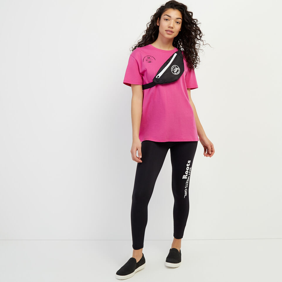 Roots-New For April Roots X Boy Meets Girl-Roots x Boy Meets Girl - Unisex Connected T-shirt-Pink-B