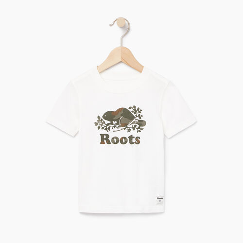 Roots-Clearance Kids-Toddler Camo Knockout T-shirt-Ivory-A