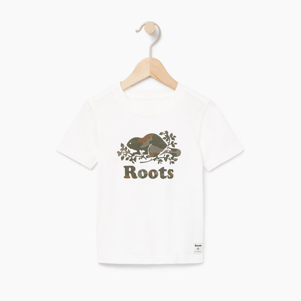 Roots-Kids New Arrivals-Toddler Camo Knockout T-shirt-Ivory-A