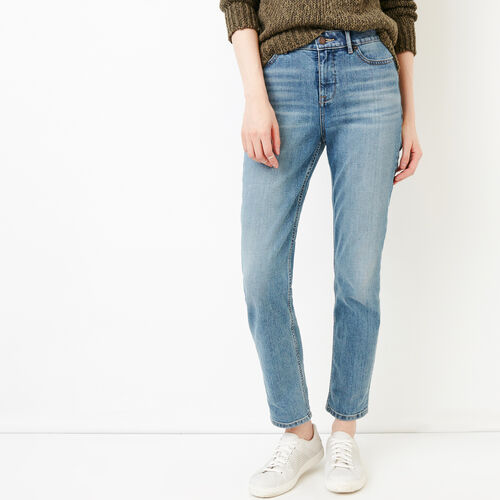 Roots-Women Pants-Jensen Straight Leg Jean-Med Denim Blue-A