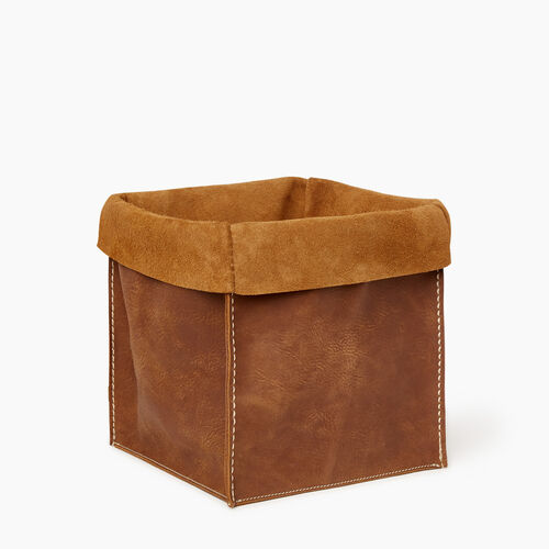 Roots-Women Leather-Large Rollover Basket Tribe-Natural-A