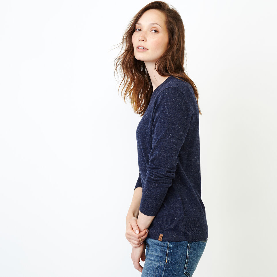 Roots-Women Our Favourite New Arrivals-All Seasons Crew Sweater-Navy Blazer Mix-C
