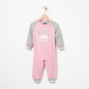 Roots-Kids Baby Girl-Baby RBC Romper-Sea Pink Mix-A