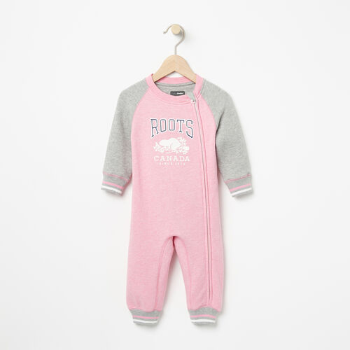 Roots-Kids Rompers & Onesies-Baby RBC Romper-Sea Pink Mix-A