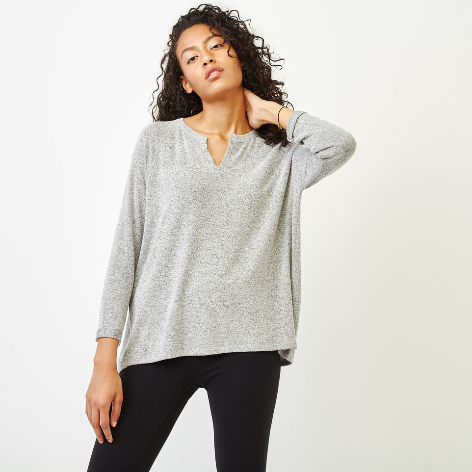 Roots-Women Clothing-Crawford Top-Grey Mix-A