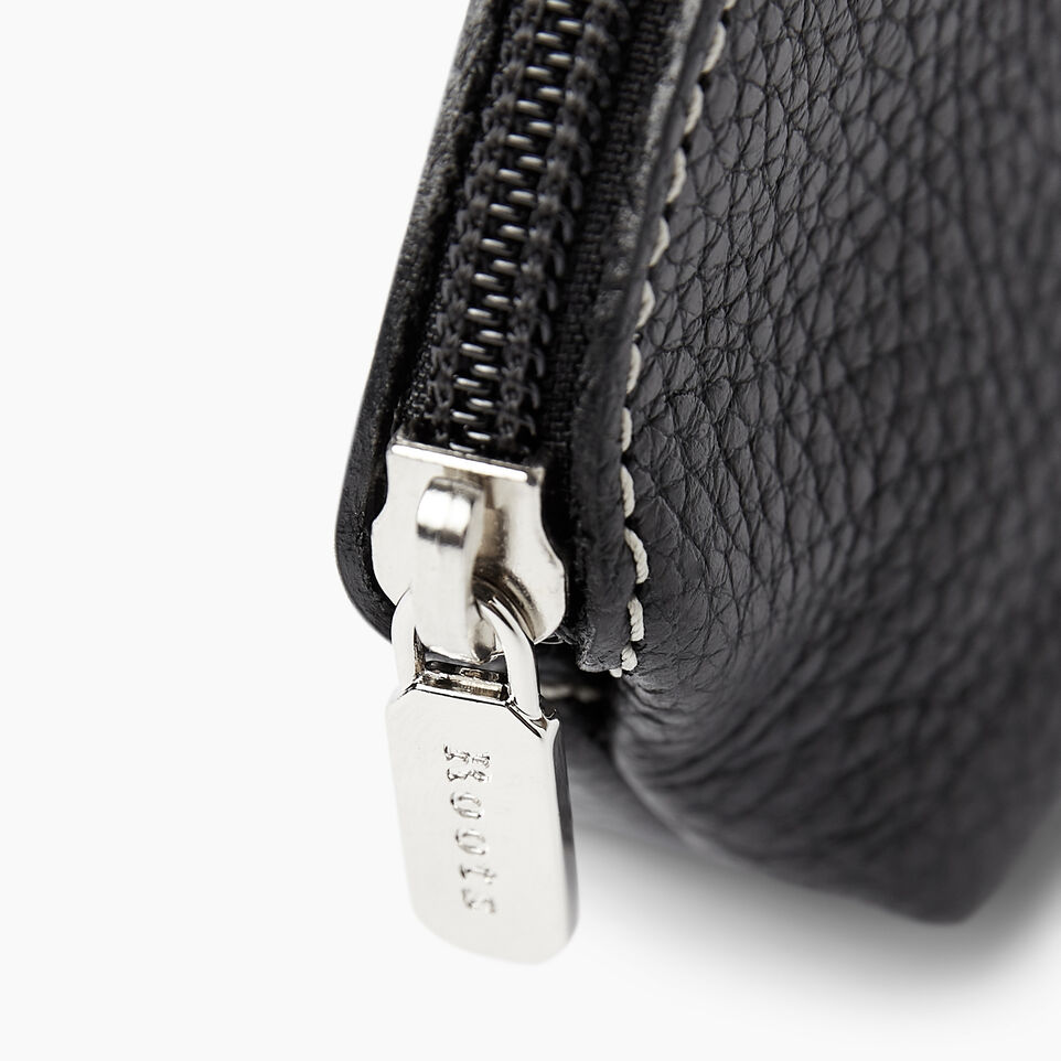 Roots-Women Leather Accessories-Small Euro Pouch-Black-C