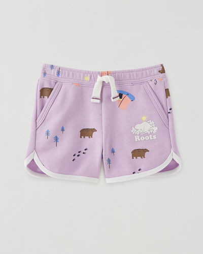 Roots-Kids Baby-Baby Camp Print Ringer Short-Light Purple-A