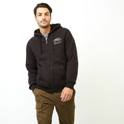 Roots-Clearance Men-Mt. Dawson Zip Hoody-Black-A
