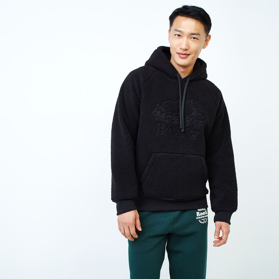 Roots-Men New Arrivals-Roots Sherpa Hoody-Black-A