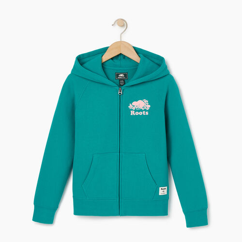 Roots-Sale Kids-Girls Original Full Zip Hoody-Dynasty Turquoise-A