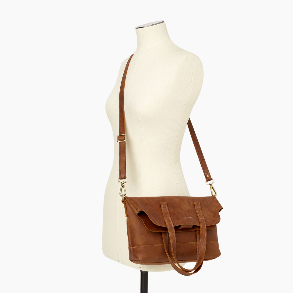 Roots-Leather  Handcrafted By Us Our Favourite New Arrivals-Junction Foldover-Natural-B