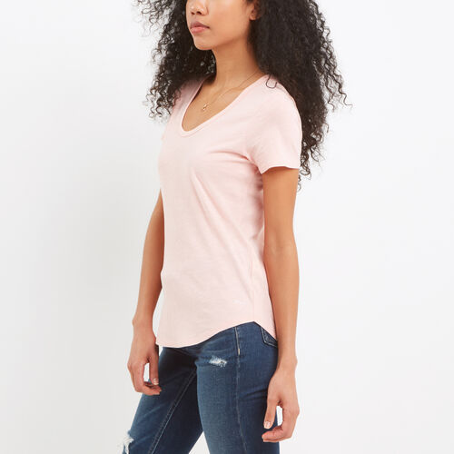 Roots-Women Tops-Savanna Scoop Neck Top-Blossom Pink-A