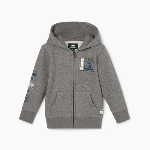 Roots-Kids Toddler Boys-Toddler Stacked Full Zip Hoody-Medium Grey Mix-A
