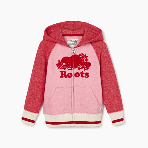 Roots-Kids Tops-Toddler Roots Cabin Cozy Zip Hoody-Cashmere Rose Pepper-A