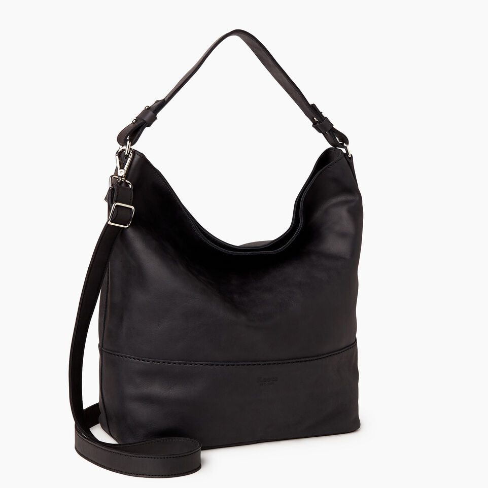 Roots-Leather Our Favourite New Arrivals-West End Hobo-Jet Black-C