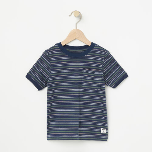 Roots-New For April Kids-Toddler Striped Ringer Top-Dark Indigo-A