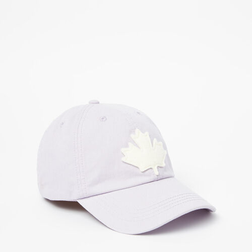 Roots-Women Accessories-Canada Leaf Baseball Cap-Thistle-A