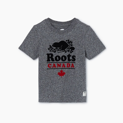 Roots-Kids New Arrivals-Toddler Roots Canada T-shirt-Salt & Pepper-A