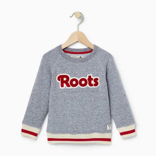 Roots-Kids Toddler Girls-Toddler Cabin Crew Sweatshirt-Salt & Pepper-A