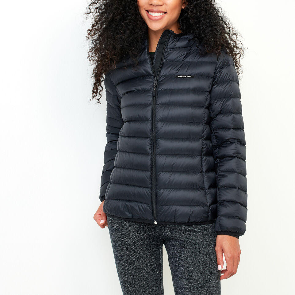 Roots-Women Categories-Roots Packable Down Jacket-Black-A