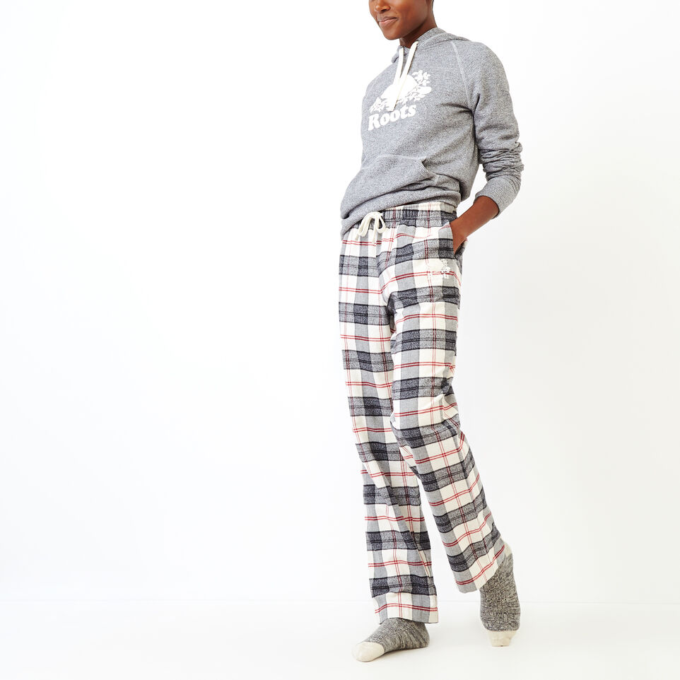 Roots-New For September Today Only: 40% Off Park Plaid Collection-Inglenook Lounge Pant-Birch White-B