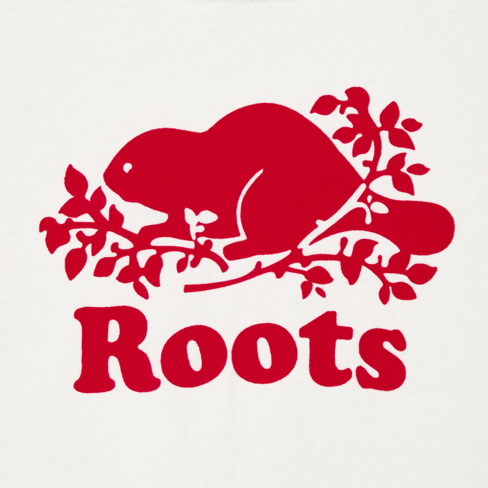 Roots-Kids Our Favourite New Arrivals-Girls Original Cooper Beaver T-shirt-Ivory-D