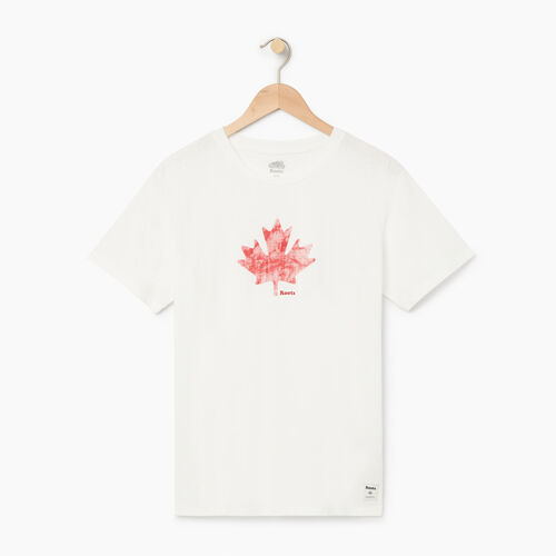 Roots-Women Bestsellers-Womens Watercolour Maple T-shirt-Ivory-A