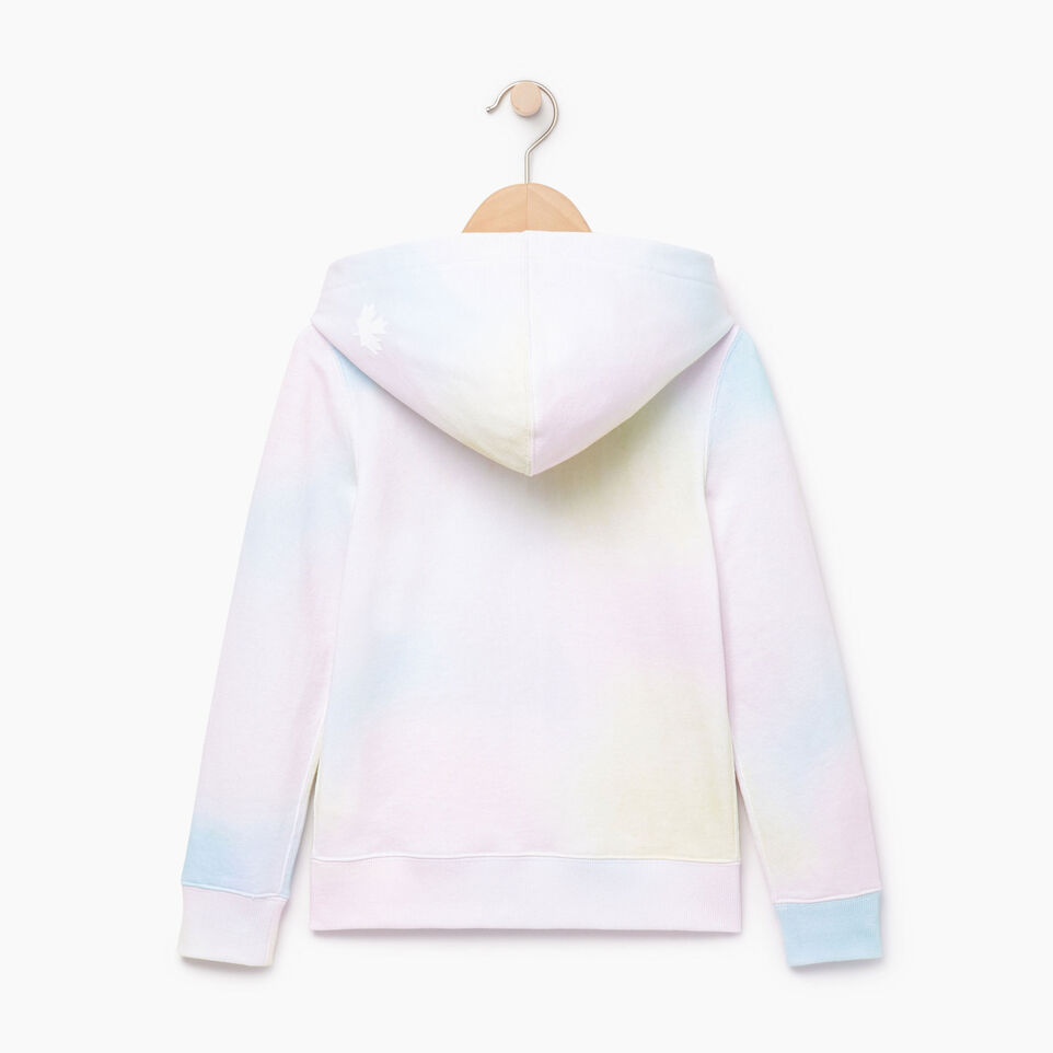 Roots-Kids Our Favourite New Arrivals-Girls Watercolour Full Zip Hoody-Ivory-B