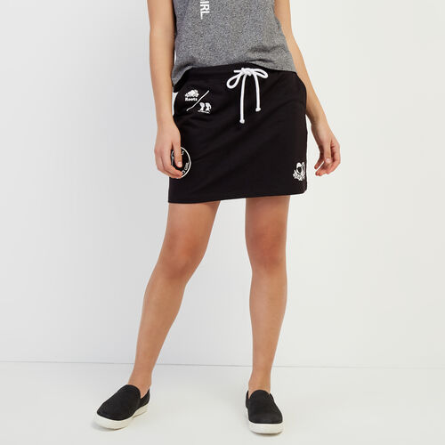 Roots-Women Shorts & Skirts-Roots x Boy Meets Girl - Community Skirt-Black-A