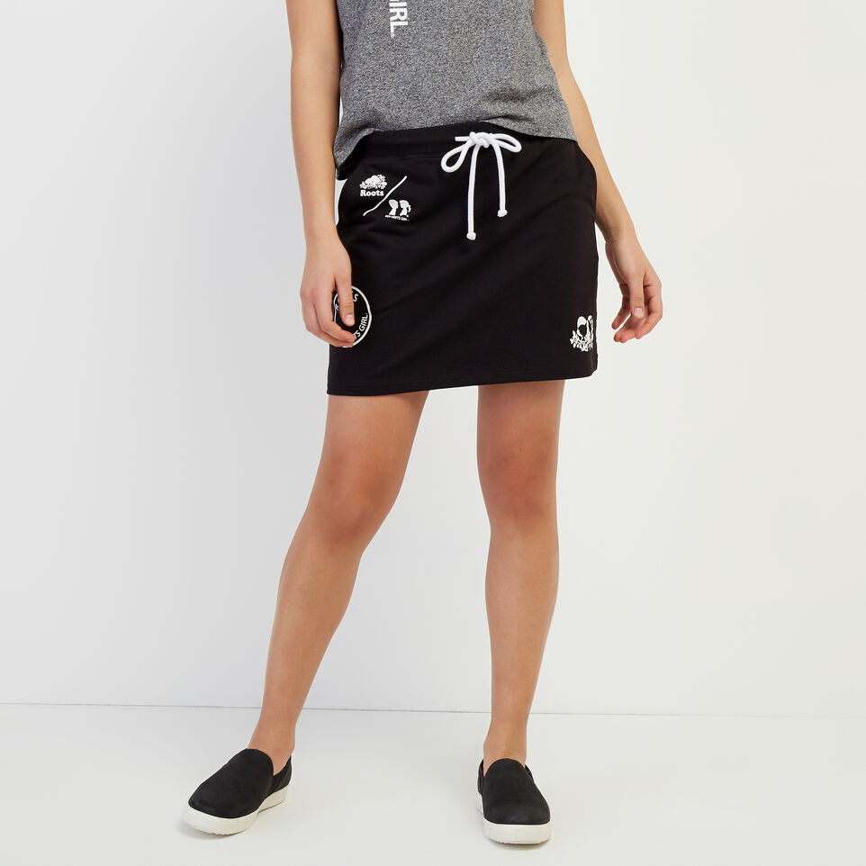 Roots-New For April Roots X Boy Meets Girl-Roots x Boy Meets Girl - Community Skirt-Black-A