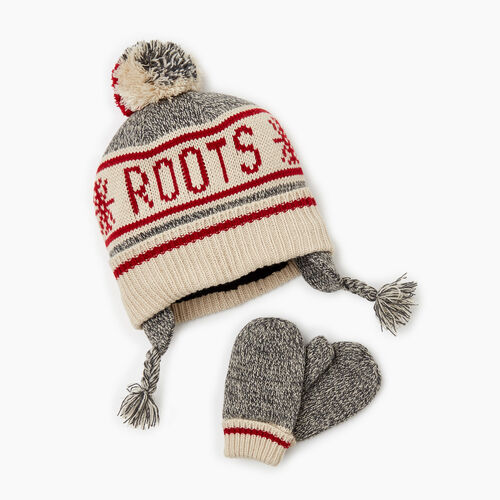 Roots-Kids Accessories-Toddler Cabin Gift Set-Grey Oat Mix-A