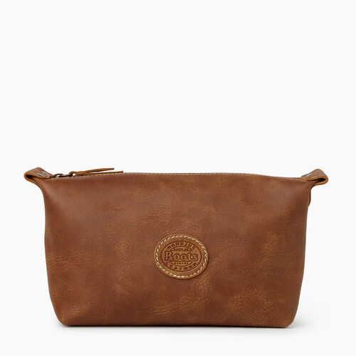 Roots-Leather Leather Accessories-Clinton Toiletry Bag Tribe-Natural-A