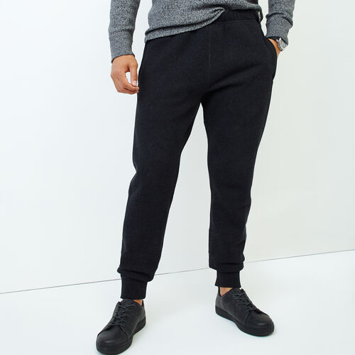 Roots-Men Our Favourite New Arrivals-Smoke Lake Slim Sweatpant-Black Mix-A