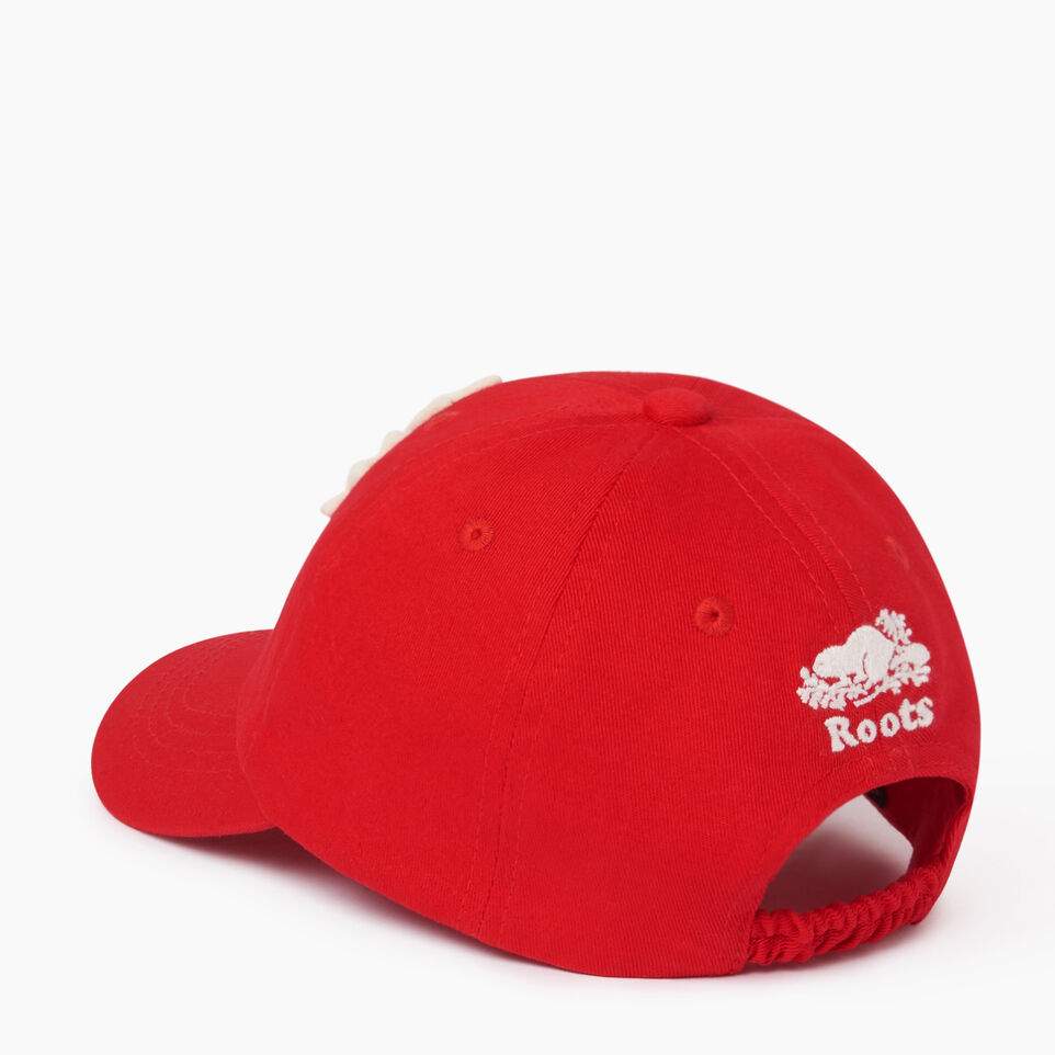Roots-Clearance Kids-Toddler Canada Baseball Cap-Red-C